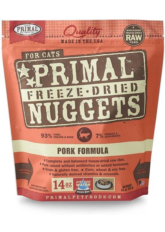 Primal Primal Freeze-Dried Nuggets Grain-Free Pork Formula Cat Food 14-oz