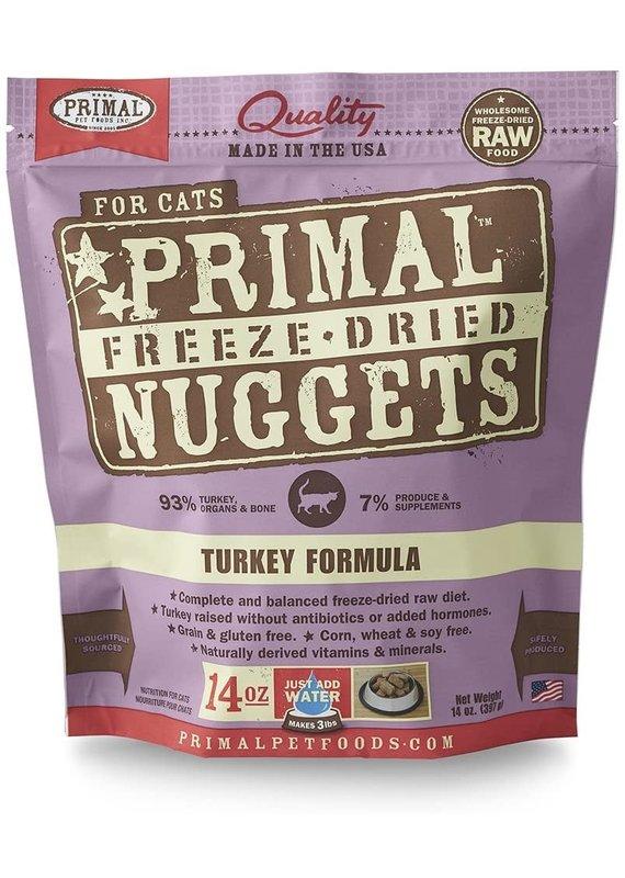 Primal Primal Freeze-Dried Nuggets Grain-Free Turkey Formula Cat Food 14-oz