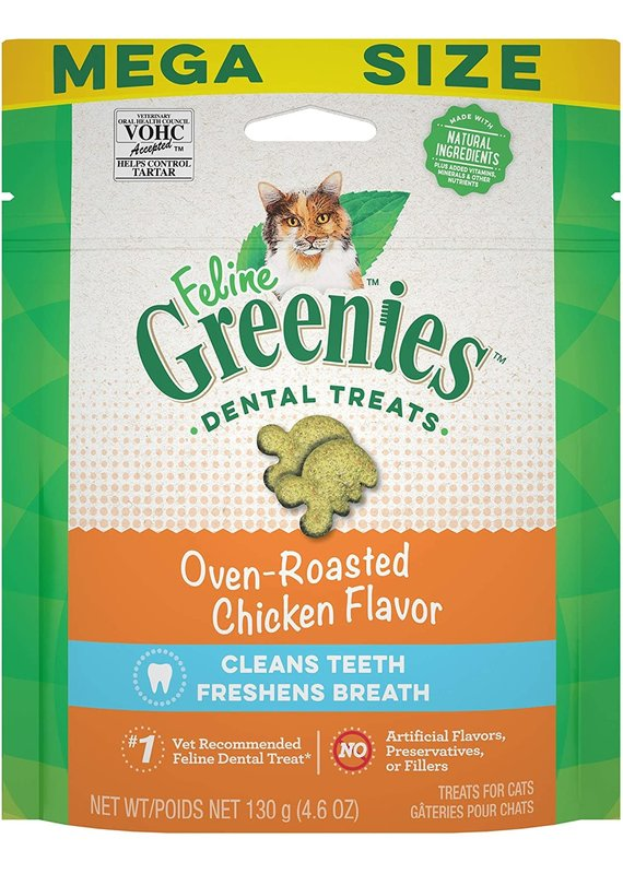 GREENIES GREENIES Feline Oven-Roasted Chicken Flavor Dental Cat Treats