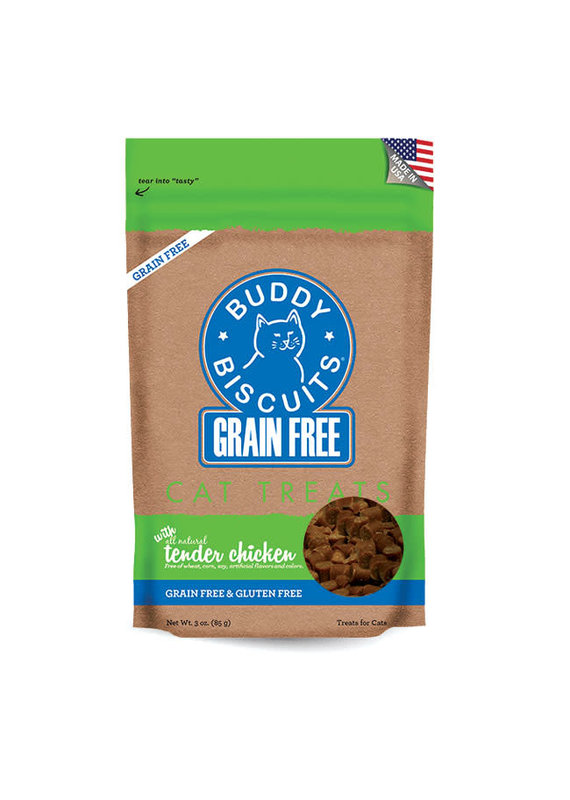 Buddy Biscuits Buddy Biscuits Grain-Free Tender Chicken Cat Treats 3-oz