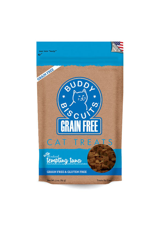 Buddy Biscuits Buddy Biscuits Grain-Free Tempting Tuna Cat Treats 3-oz