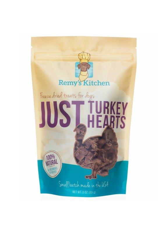 Remy's Kitchen Remy's Kitchen Just Turkey Hearts Freeze-Dried Dog & Cat Treats 3-oz