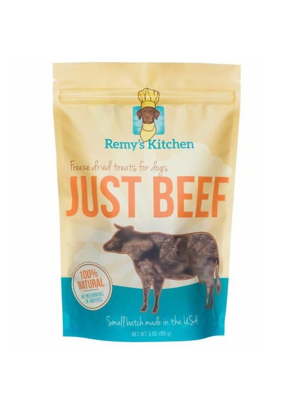 Remy's Kitchen Remy's Kitchen Just Beef Freeze-Dried Dog & Cat Treats 3-oz