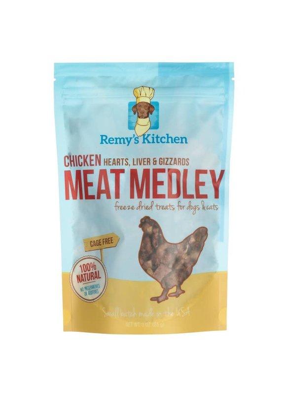 Remy's Kitchen Remy's Kitchen Chicken Meat Medley Freeze-Dried Dog & Cat Treats 3-oz