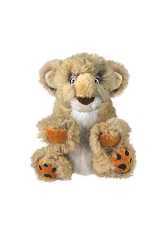 KONG Company KONG Comfort Kiddos Lion Plush Dog Toy Tan Large