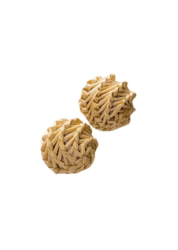 KONG Company KONG Naturals Straw Ball 2-Pack Catnip Cat Toy