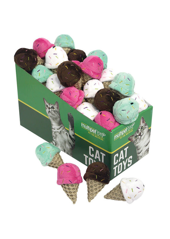 Multipet Multipet Ice Cream Cone Catnip Cat Toy 3""