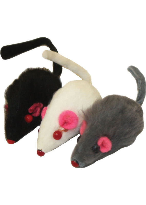 Multipet Multipet Fur Mice Cat Toy 2""