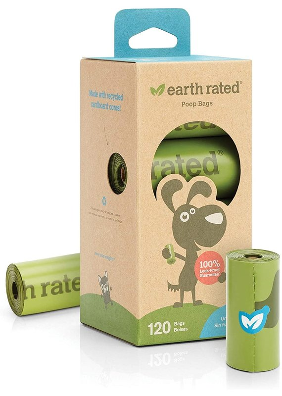 Earth Rated Earth Rated Unscented Dog Waste Bags 8-Rolls, 120-Bags