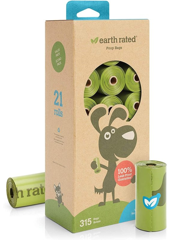 Earth Rated Earth Rated Unscented Dog Waste Bags 21-Rolls, 315-Bags