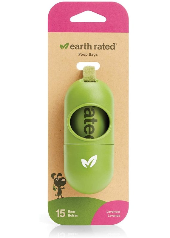 Earth Rated Earth Rated Leash Dispenser with Lavender Scented Bags, 15-bags