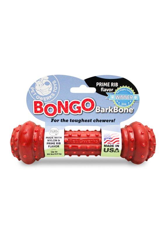 Pet Qwerks Pet Qwerks Bongo Barkbone Prime Rib Flavor Dog Chew Toy