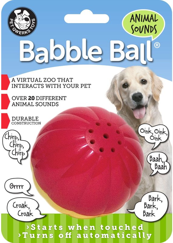 Pet Qwerks Pet Qwerks Animal Sounds Babble Ball Interactive Dog Toy Medium