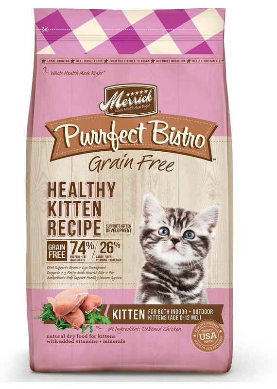 Merrick Merrick Purrfect Bistro Grain-Free Healthy Kitten Recipe Dry Cat Food
