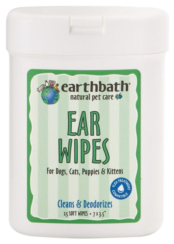 Earthbath Earthbath Ear Wipes for Dogs & Cats (25 Count)