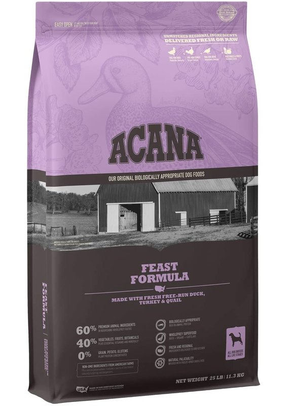 ACANA ACANA Feast Formula Dry Dog Food 25-lb