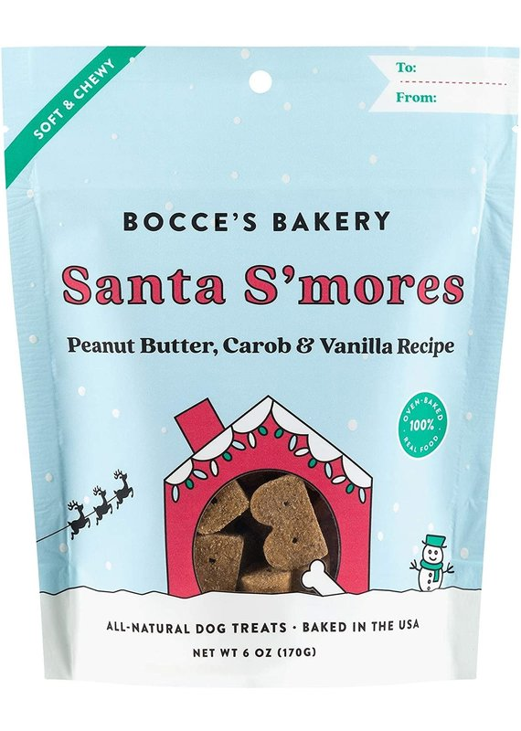 Bocce's Bakery Bocce's Bakery Santa S'mores Dog Soft & Chewy Treats 6-oz