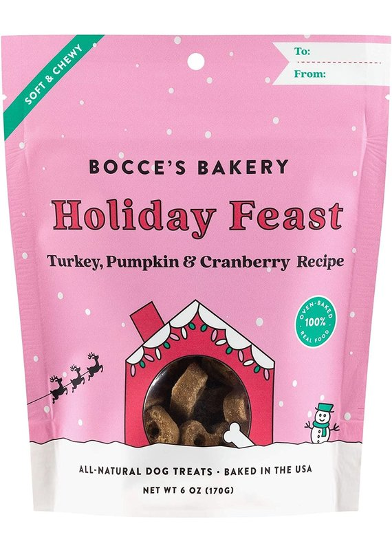 Bocce's Bakery Bocce's Bakery Holiday Feast Dog Soft & Chewy Treats 6-oz
