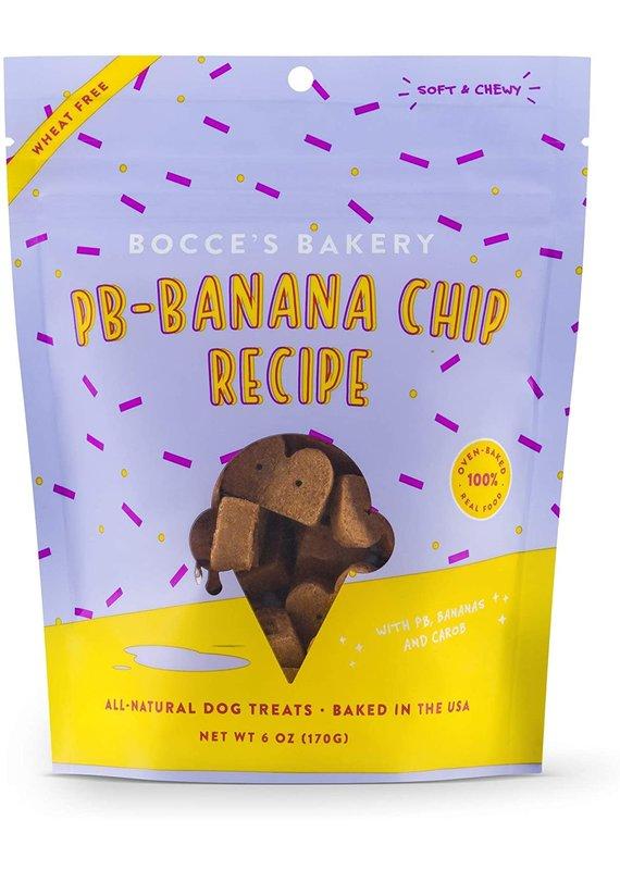 Bocce's Bakery Bocce's Bakery PB-Banana Chip Dog Soft & Chewy Treats 6-oz