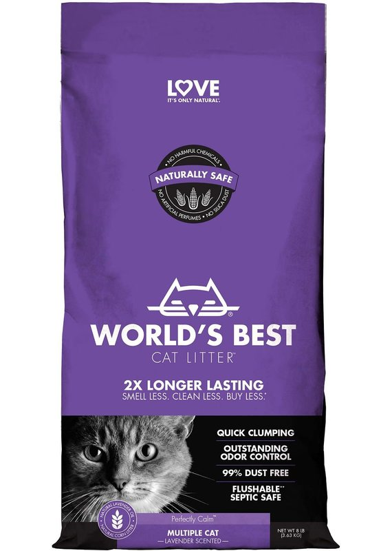 World's Best Cat Litter World's Best Cat Litter Lavender Scented Multiple Cat Clumping Corn Litter