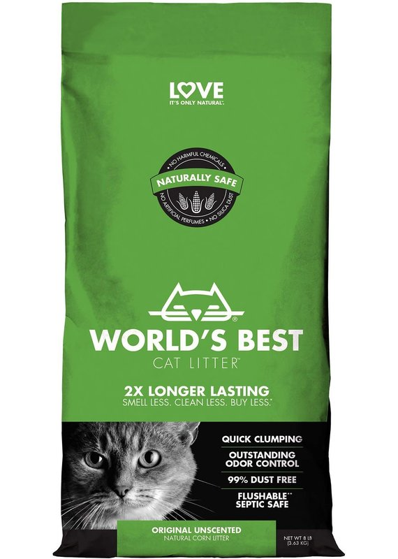World's Best Cat Litter World's Best Cat Litter Unscented Cat Clumping Corn Litter