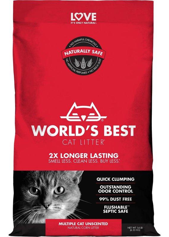World's Best Cat Litter World's Best Cat Litter Unscented Multiple Cat Clumping Corn Litter