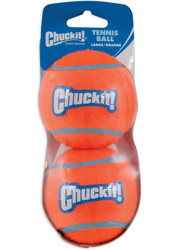 Chuckit! Chuckit! Double-Pack Tennis Balls Dog Toy Large