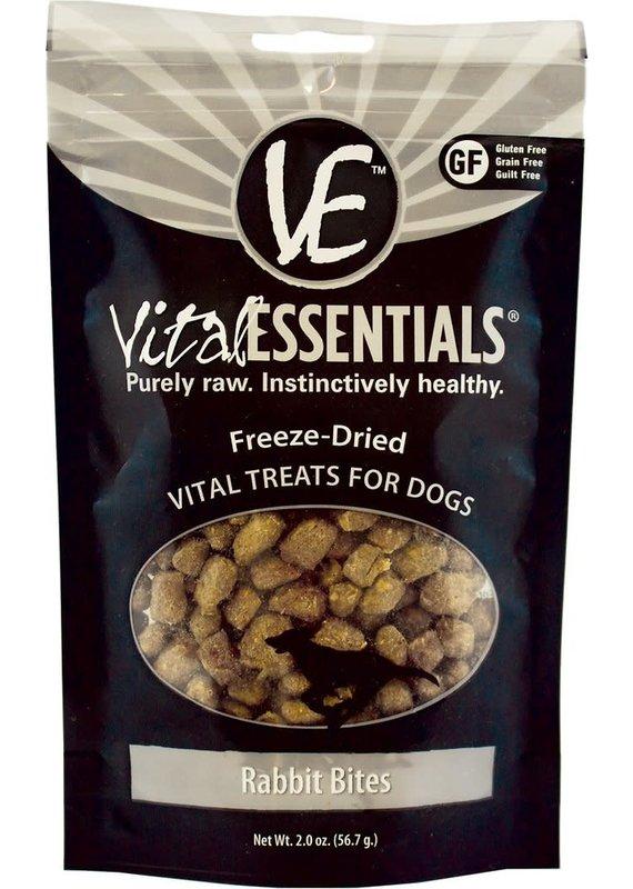 Vital Essentials Vital Essentials Rabbit Bites Freeze-Dried Dog Treats 2-oz
