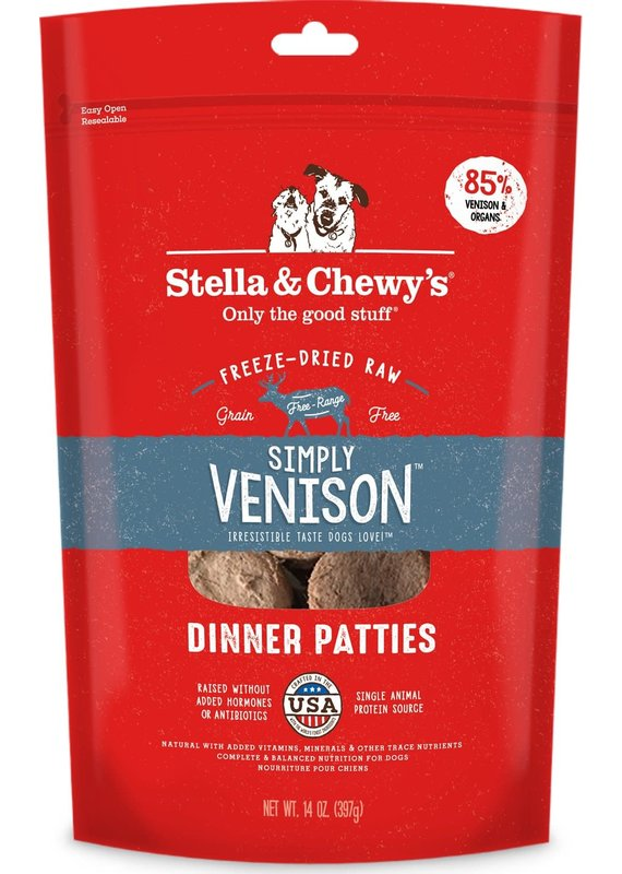 Stella & Chewy's Stella & Chewy's Simply Venison Freeze-Dried Raw Dinner Patties Dog Food 25-oz
