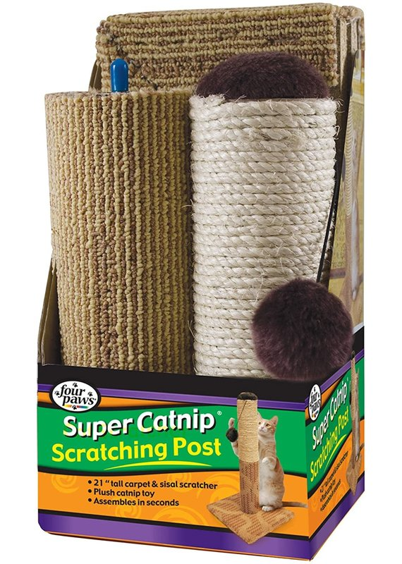 Four Paws Four Paws Super Catnip Carpet and Sisal Scratching Post Cat Toy 21""