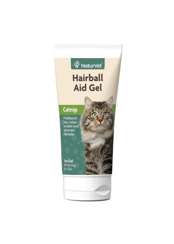 NaturVet NaturVet Hairball Aid Gel Plus Catnip for Cats 3-oz
