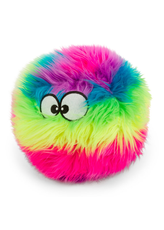 goDog goDog Furballz Chew Guard Squeaky Plush Dog Toy Rainbow Large