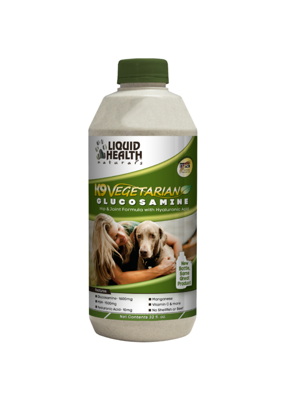 Liquid Health Pets Liquid Health Pets K9 Vegetarian Glucosamine Joint Dog Formula 32-oz
