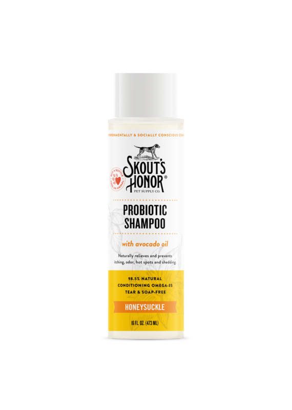 Skout's Honor Skout's Honor Probiotic Honeysuckle Shampoo for Dogs & Cats 16-oz