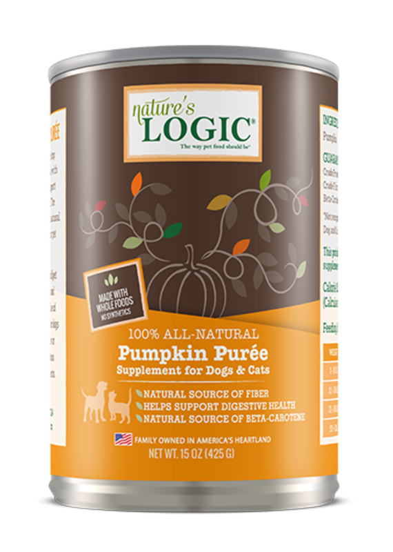 Nature's Logic Nature's Logic Pumpkin Puree Supplement for Dogs & Cats 15-oz