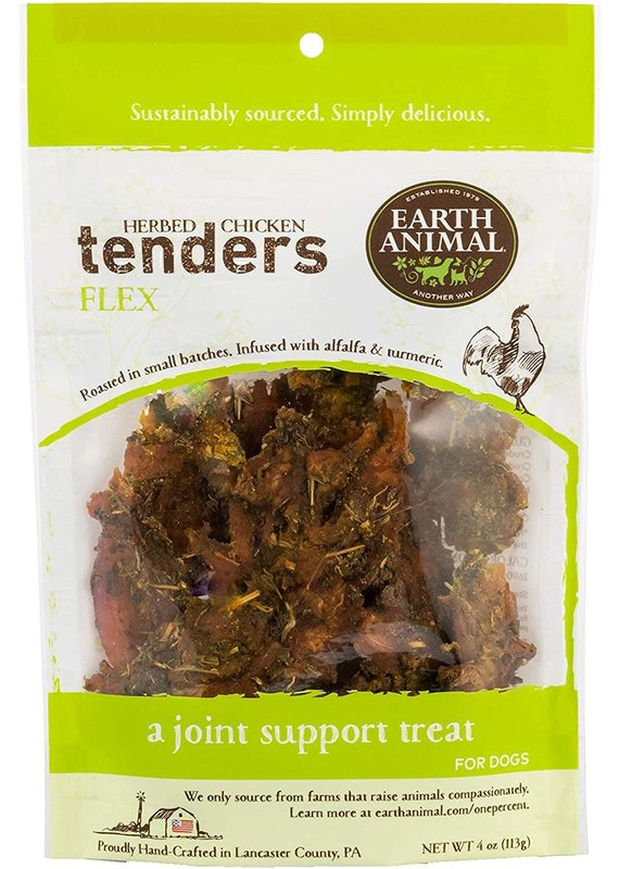 Earth Animal Earth Animal Flex Herbed Chicken Tenders Jerky Dog Treats 4-oz