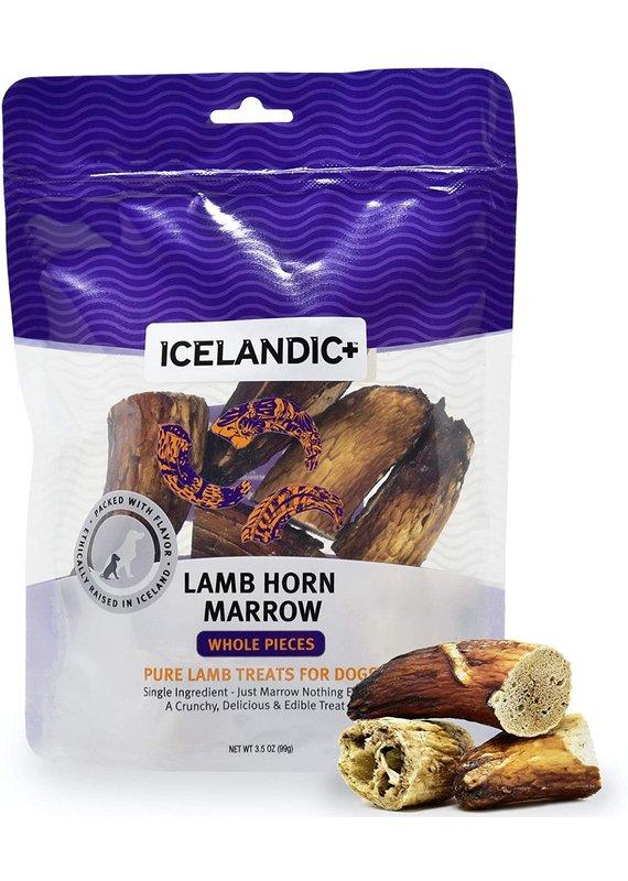Icelandic+ Icelandic+ Lamb Horn Marrow Whole Pieces Dog Treats 4.5-oz Bag