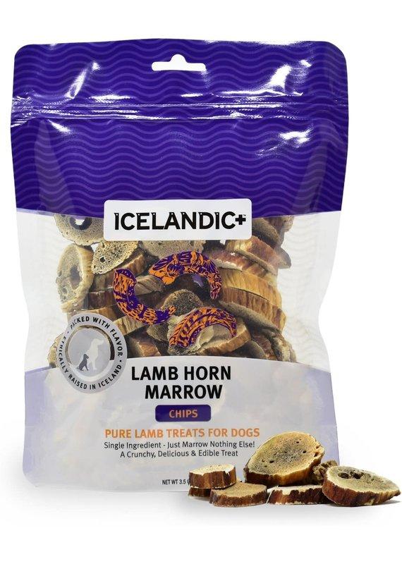 Icelandic+ Icelandic+ Lamb Horn Marrow Chips Dog Treats 4-oz Bag