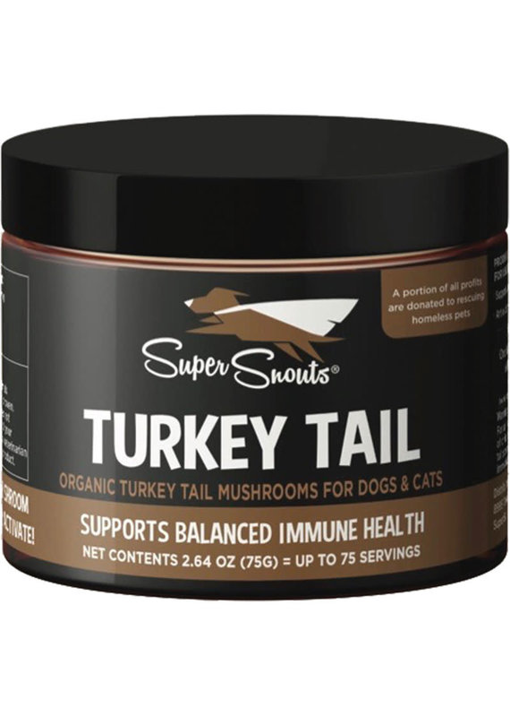 Super Snouts Super Snouts Turkey Tail Mushroom Supplement Supports Immune Health for Dogs & Cats