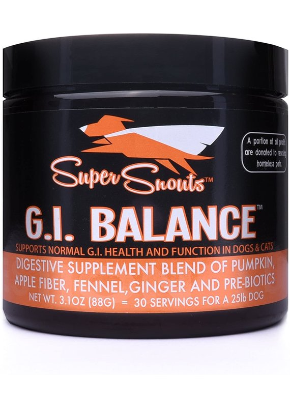 Super Snouts Super Snouts G.I. Balance Digestive Blend Supplement for Dogs & Cats 88-g