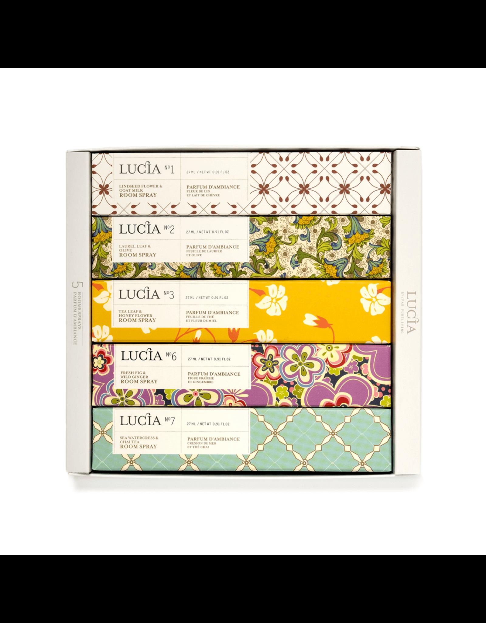 Lucia - Assortiment de parfum d'ambiance N1, N2, N3, N6, N7 (5 x 27 ml)