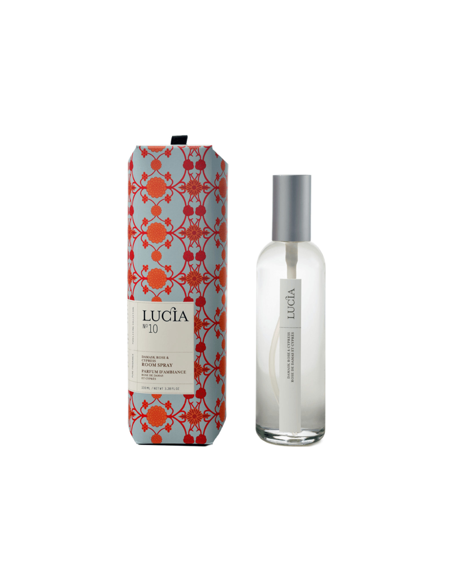 Lucia # 10: Parfum d'ambiance rose de damas et cyprès (100 ml)