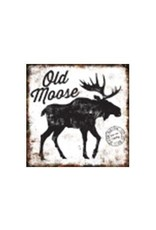Affiche vintage « Old Moose » métal (grande)