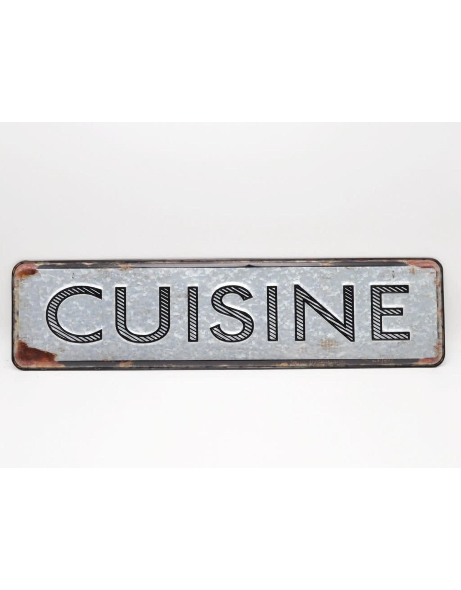 Affiche « Cuisine » 3D métal