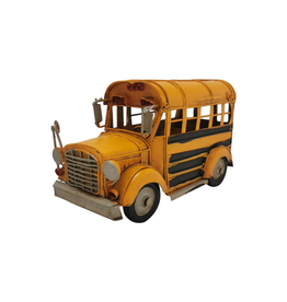 Autobus jaune en métal
