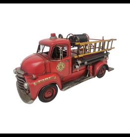 Camion de pompiers rouge en métal