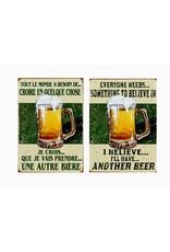 Affiche « Je crois à la bière » réversible