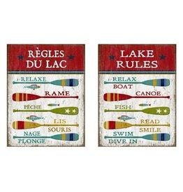 Affiche « Règles du lac » réversible