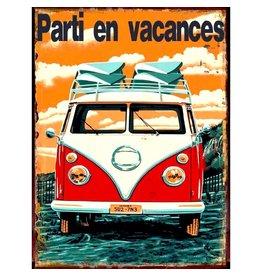 Affiche « Parti en vacances »réversible