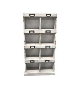 8 casiers muraux en bois blanc